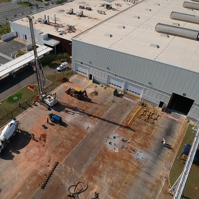 imagem de Projeto de fundação de edifícios industriais e galpões destinados a logística